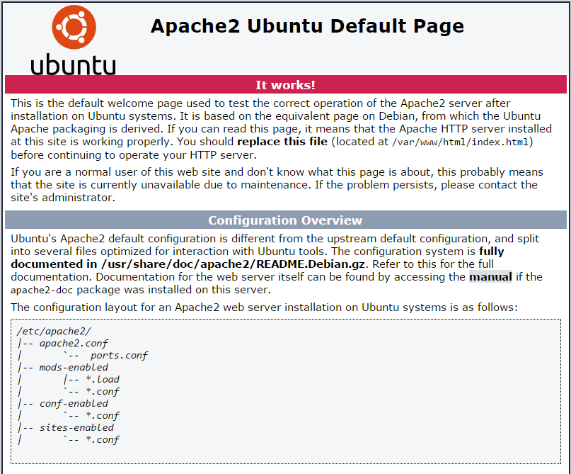 If You Are Greeted With A Page Which Looks Like This; Apache Has Installed  Correctly And We Can Continue.